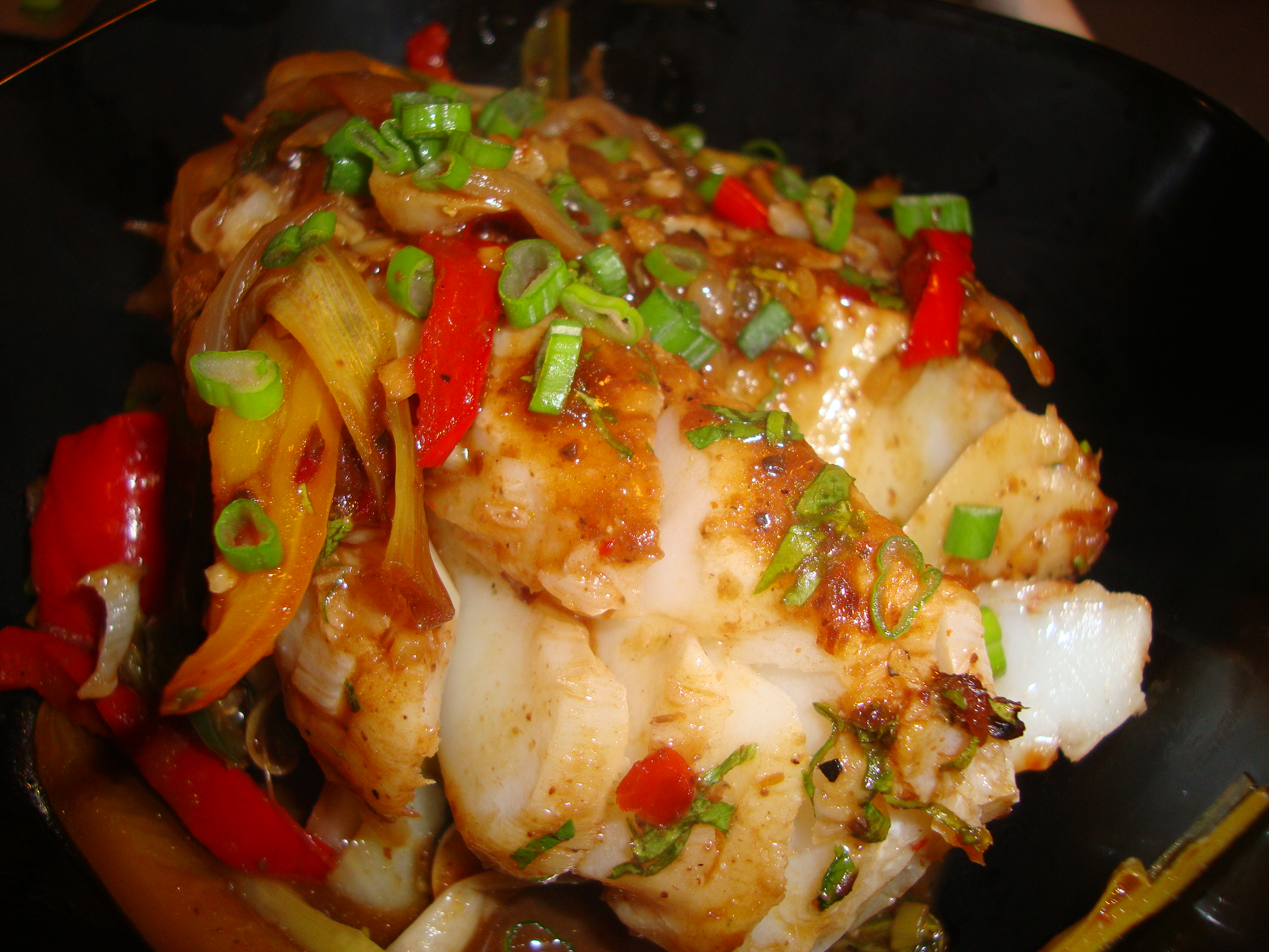Foil baked asian cod i think so fork my life for Baked cod fish recipes
