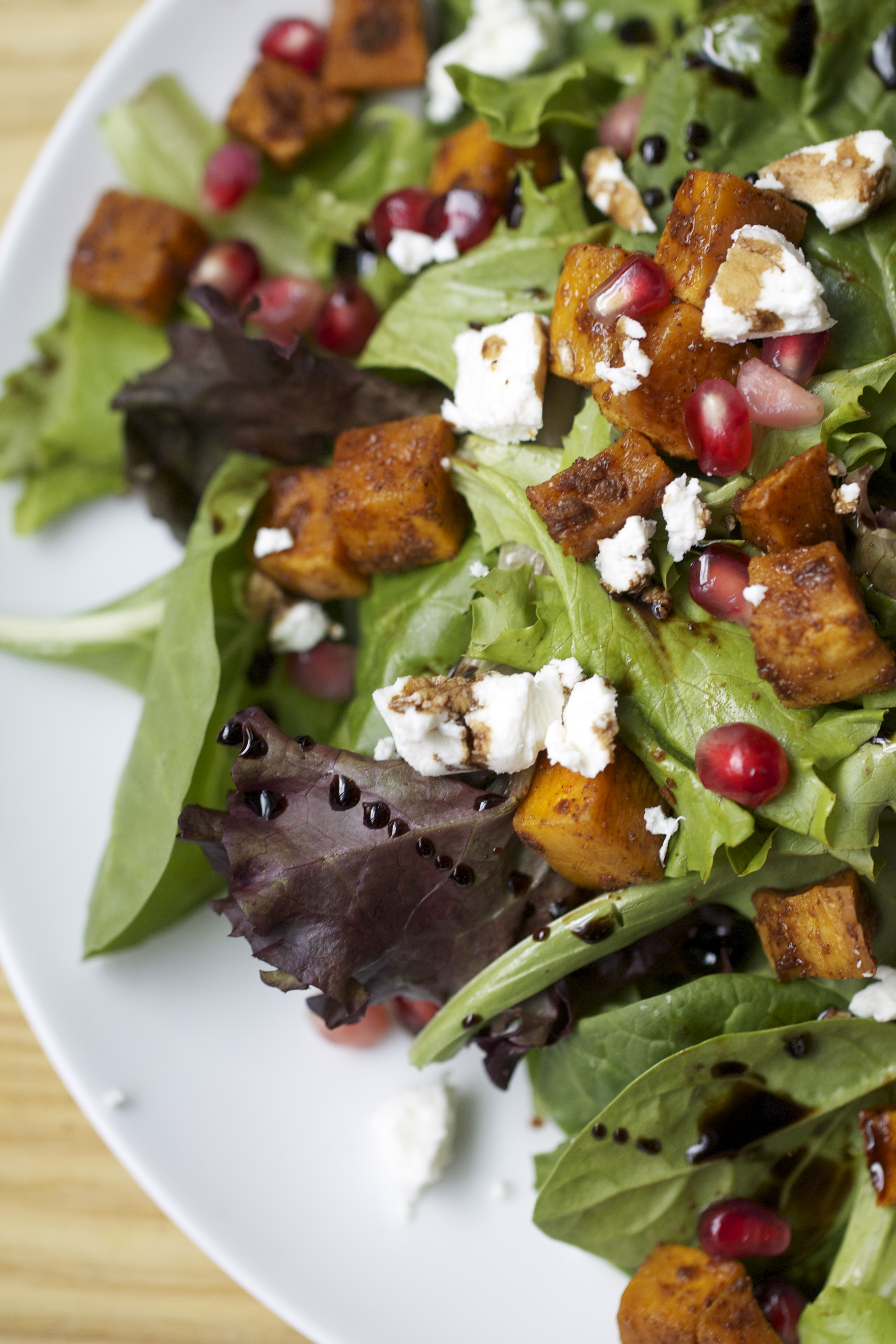 Roasted Butternut Squash, Goat Cheese and Pomegranate ...