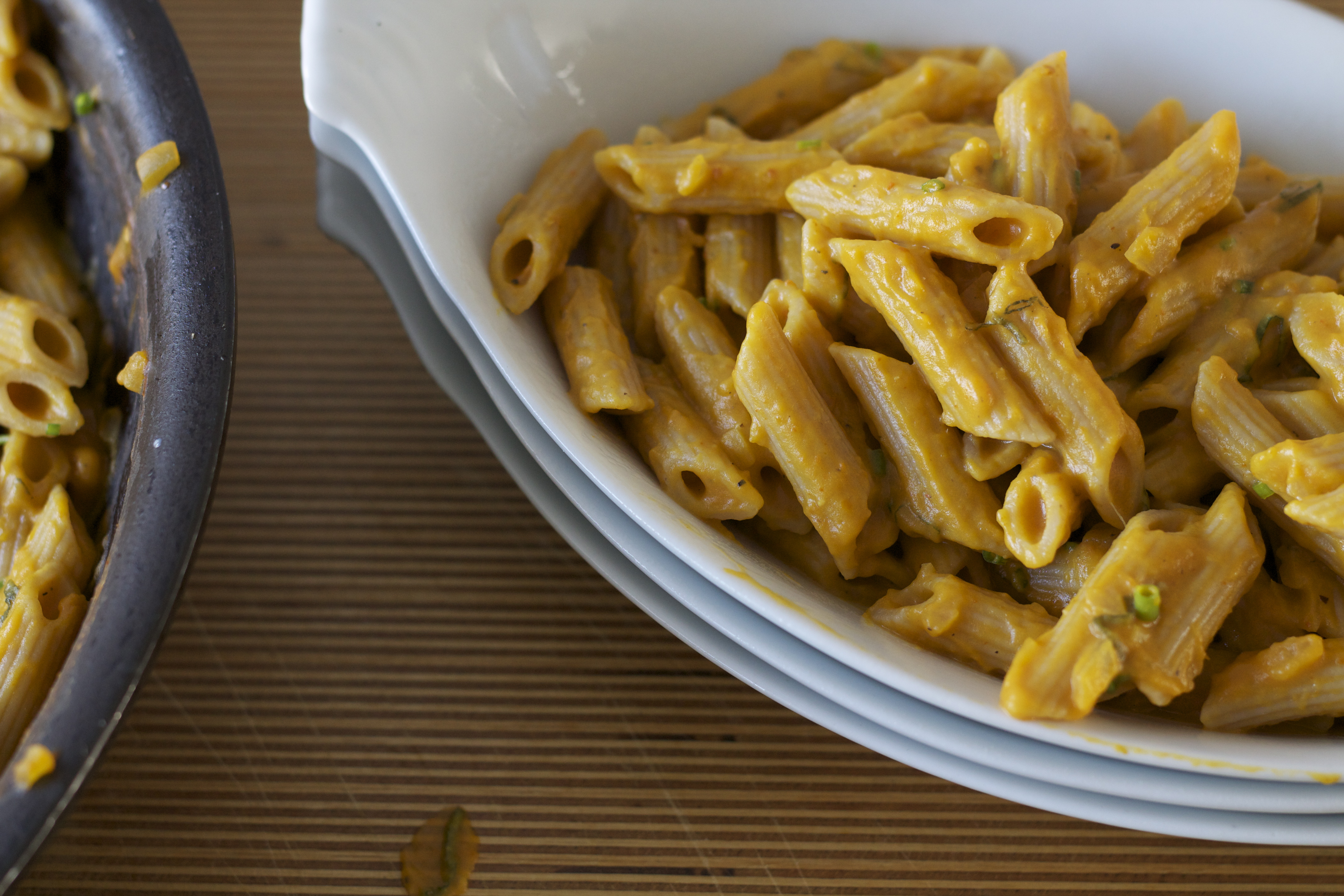 Whole Wheat Penne with Creamy Pumpkin Sauce - Fork My Life